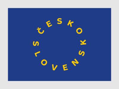 100 Years of Czechoslovak Independence 1/3 european union eu design typography flag design flag vector poster slovakia independence czech republic czechoslovakia czechia czech anniversary