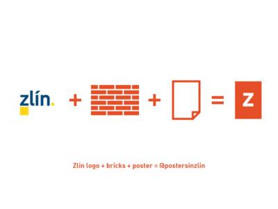 Posters in Zlin logo - explanation