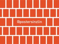 Posters in Zlin - pattern