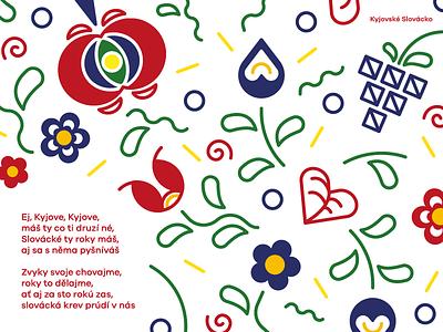 Moravian ornaments folklore slavic traditions folk art folk ornaments moravia typography vector design illustration czech republic czechia czech