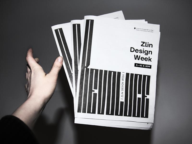 Zlin Design Week Newspapers print revolution newspapers zlín zlin branding typography design vector czech republic czechia czech