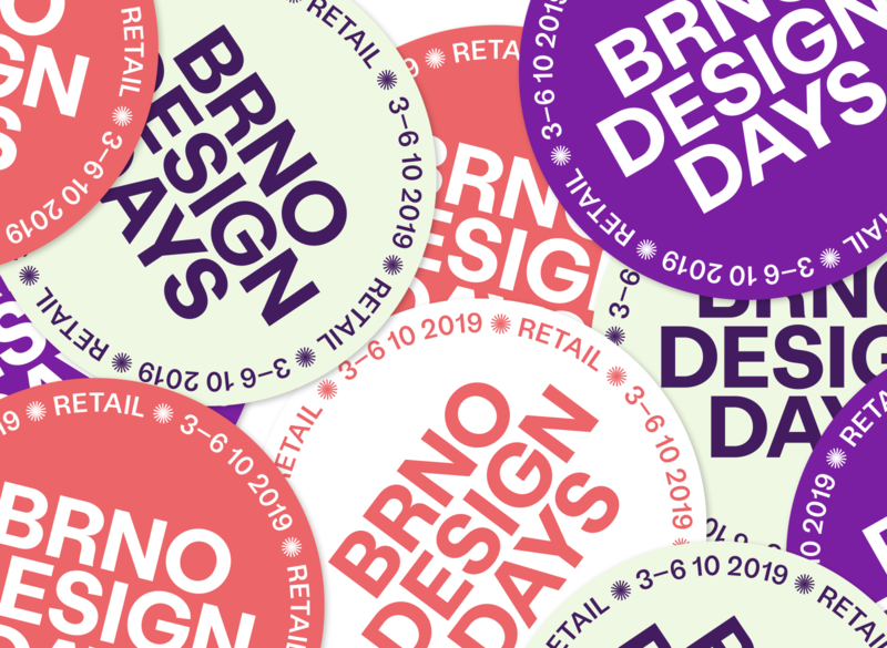 Brno Design Days 2019 brno sticker design festival moravia branding visual identity sticker stickers typography design vector czech republic czechia czech