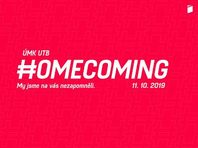 ÚMK Homecoming 2019 logo zlín zlin typography design vector czech republic czechia czech