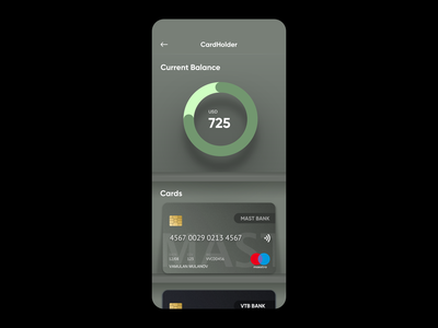 Concept App Car Holder Neomorphism appstore iphone ux mobile ui app card holder neomorphism