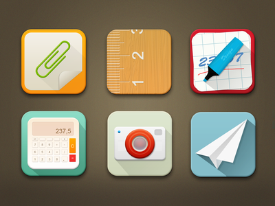 Icons Collections ui icons collections design scetch ios iphone mobile web appstore colors icon