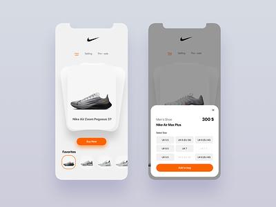 Nike Ui Concept Flip Card board flip nike iphone ux mobile ios web ui