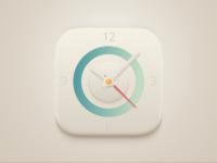Ui clock icon blue pres