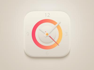 Clock App Icon [ 100% Vector ]