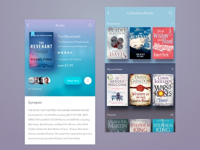 Store book pay ios book store blue iphone mobile app ux ui