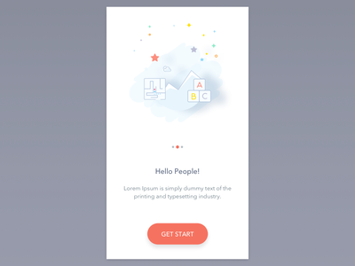Questionnaire App fx shadow illustration red start iphone ux mobile ios ui app questionnaire