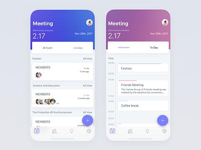 Meeting Calendar x ui task tab meet iphone ios event dark calendar app add
