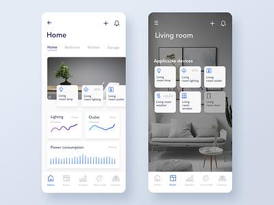 Smart Home  App Concept color store light device kit home smart ux app icons ios ui