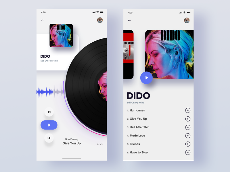 Music Player iphone appstore music art music player music ux mobile ios ui app