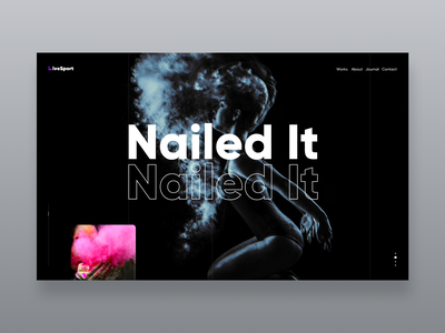 Nailed It - the first screen web logo site icons ui ios app typography vector illustration design ux
