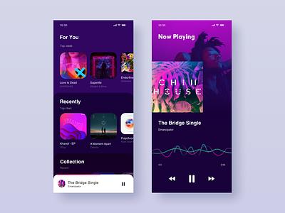 Music Player App player music ux mobile app web ui