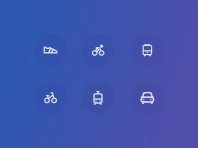 Exploring transportation icons