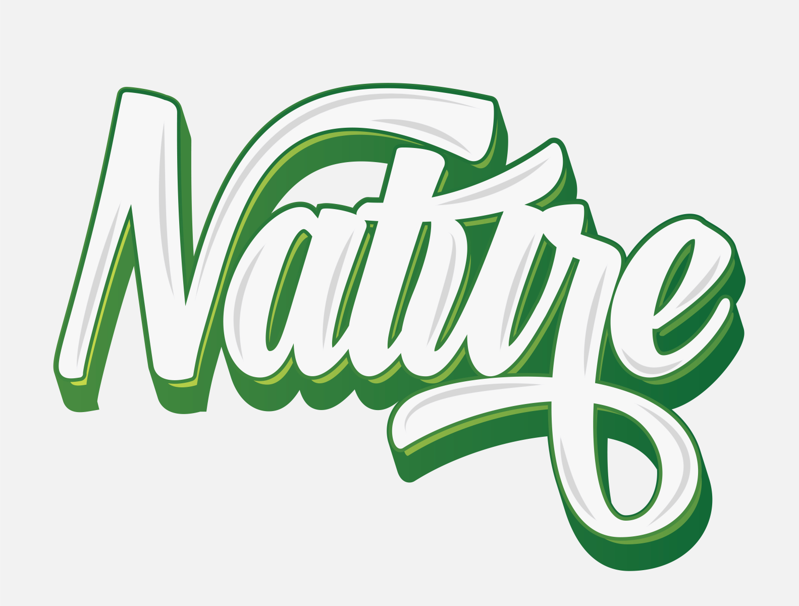Nature Typography Logo Design By Shaheen Ahmed On Dribbble,Typography Logo Design Inspiration