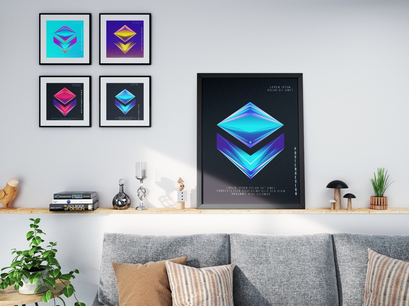Abstract poster design colorful dribbble illustration ui ux logo flat minimalist 2020 trend brand design vector abstract poster