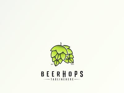 Beer Hops Logo brewery logo alcohol ink alcohol branding alcohol fresh beer fresh beer logodesignchallenge vector illustration branding 2020 trend logotype logo minimalist brand design design