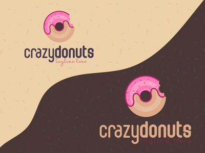 Donuts eat cream celebration color candy pink food donuts strawberry cake breakfast bakery icon sugar brand design vector branding logotype logo sweet