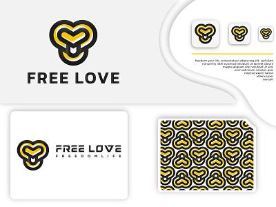 Logo Branding Design For Free Love payment dribbble technology service brand identity natural marketing logo black graphic design modern creative vector logodesign minimalist branding design brand design logotype logo love logo