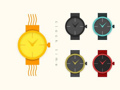 Clock Icon Design Set illustration ui minimalist service vector illustration app creative design marketing hand clock icon clock icon logodesign design brand design logotype logo branding