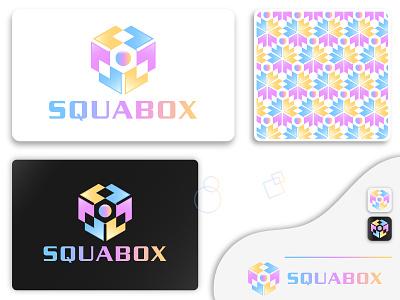 Squabox Logo Design modern logo squabox logo round squar box squar abcdefghijk creative marketing graphic design vector logodesign minimalist branding design brand design logotype logo