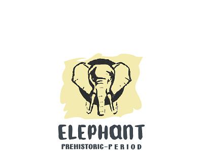 Elephant Prehistoric Period design vector illustration logo design identity nature elephant prehistoric modern creative logo graphic design branding logotype brand design