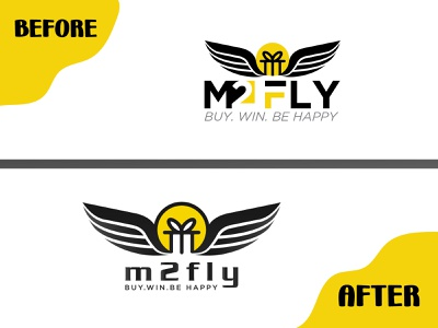 Logo-redesign-before-and-after -Branding creative business logo fly graphic design redesign before-and-after before logo illustration logodesign minimalist branding brand design logotype