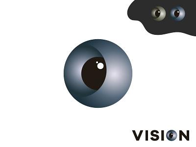 VISION LOGO 2020 trend agency professional round logo logo maker logo mark symbol business logo brand identity graphic design creative logo eye logo vision logo marketing logo company logo logodesign minimalist branding brand design logotype