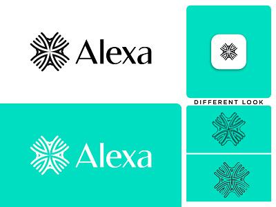 Alexa a luxury logo a logo design motion graphics modern logo technology graphic design brand identity company luxury logo creative business logo logodesign minimalist design branding brand design logo logotype