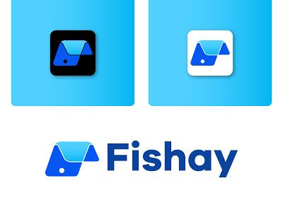 Fishay 3d ui graphic design marketing bank fish logo creative logo company modern business logo vector illustration logodesign minimalist design branding brand design logotype logo