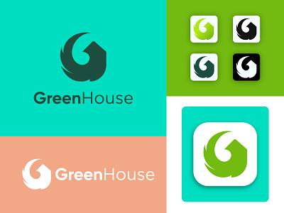 GreenHouse- G Letter Logo Design business brand graphic design brand identity typography system north carolina greenhouse type lockup house icon farm vector logodesign minimalist design branding brand design logo logotype