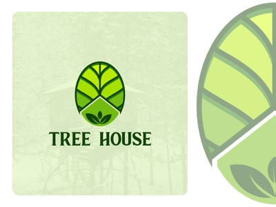 Tree House minimalist design branding brand design logotype logo house tree