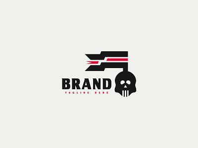 Skull Flag Logo skull flag logo minimalist logodesign design branding brand design logotype flag logo skull