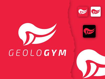 GeoloGym Logo gym corporet brandidentity creative company business minimalist logodesign design branding brand design logotype logo
