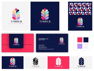 Timber Valley Brand identity Design identity timber valley timber vally logo branding brand design logotype tree timber
