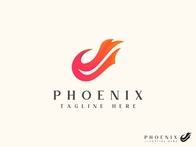 PHOENIX LOGO DESIGN magic concept idea modern fly eagle wing bird abcdefghijklmon company logo creative minmal logodesign minimalist design branding brand design logotype logo phoenix