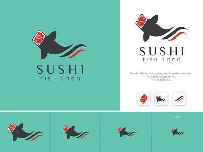 Sushi fish Logo sea fish sushi logo ui fish logo creative logo negative space restaurant minimal company business logo sushi logodesign minimalist design brand design logotype branding logo graphic design sushi fish logo