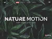 NatureMotion - Landing web page
