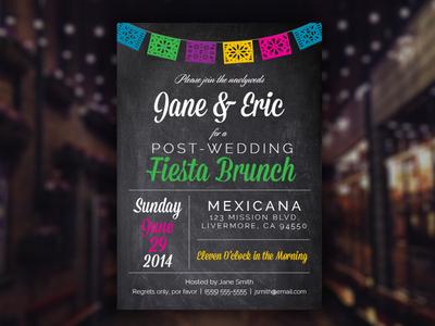 Fiesta Brunch Invitation