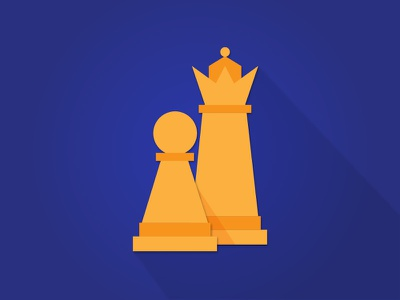 Chess Anyone? illustration shadow icons flat chess pieces chess