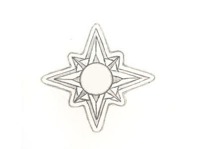 Star Drawing sketch line star paper drawing pencil illustration