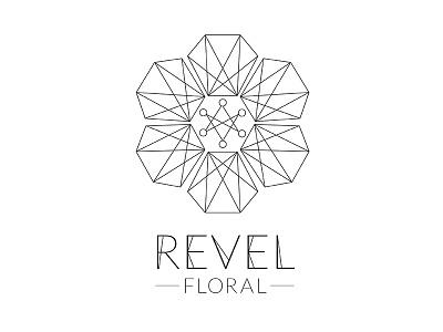 Floral Logo Concept type geometric line floral logo