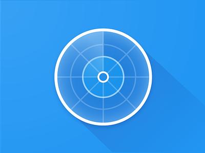 Navigation Logo design flat radar navigation icon logo
