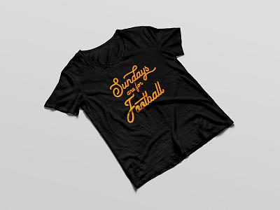 Football Sunday T Shirt Mockup sundays football type typography tshirt