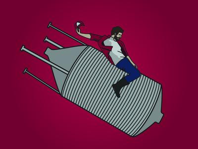 WIP - Riding a Silo illustration