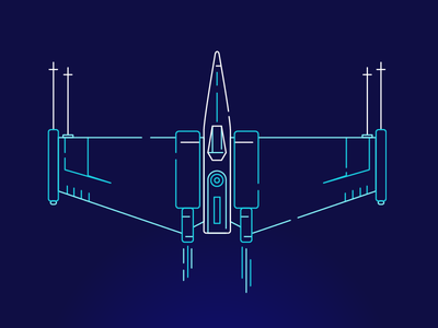 Xwing fighter jet star wars xwing illustration line
