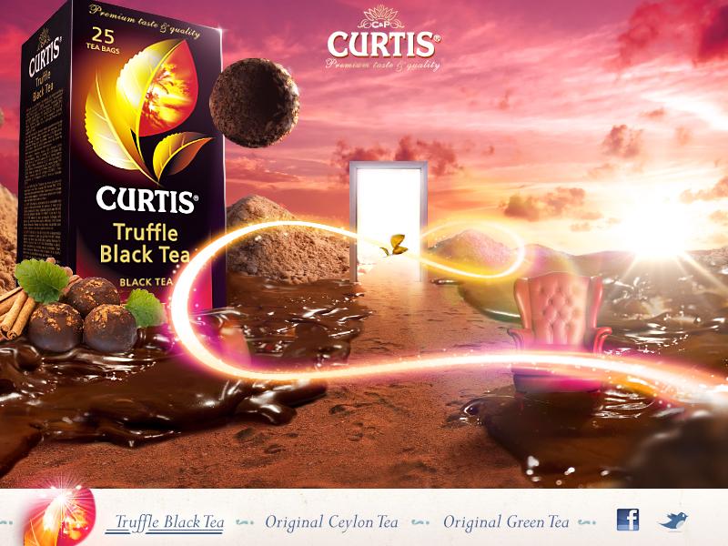 Curtis promosite design curtis promo webdesign tea fantasy truffle