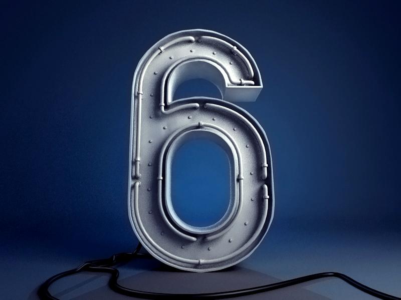Magicbox Blog – 6th anniversary illustration blog 6 digit number anniversary wip illustration render